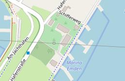 Emden Karte.Marina Emden Einstellplatz Fur Ihr Fahrzeug In Deutschland